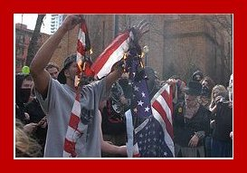 LOOKY HERE!! RIPPING A US FLAG!