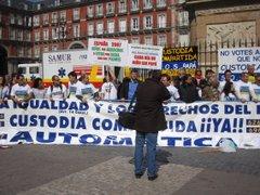 Manifestación por la custidia compartida madrid.