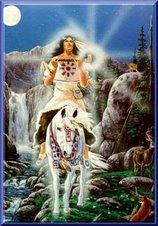 Mujer Bisonte Blanco, quien trae la sacralidad a la vida.