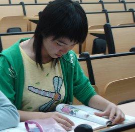 I read books in class.