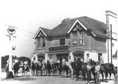 The Bull, Chelsham Green, Warlingham House Club tea-ride 5th July 1953