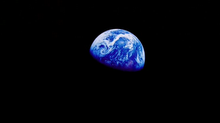 """Earth Rise"" 1.st picture of Earth from space"