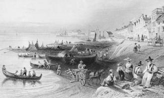 Port de Montréal en 1841