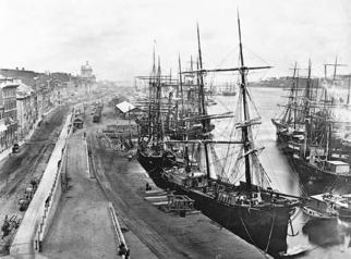 Port de Montréal en 1880