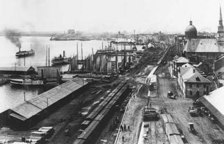 Port de Montréal en 1885
