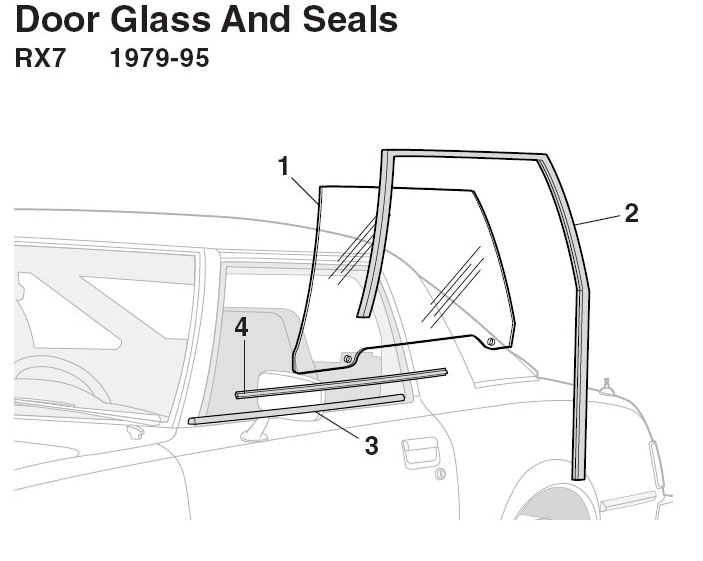 Glass Run Channel Rx7 79 85 2 Units 29 95 59 90 Door Window Seal Inner 14 Outer