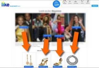 Apri il motore di ricerca visuale LIKE.COM