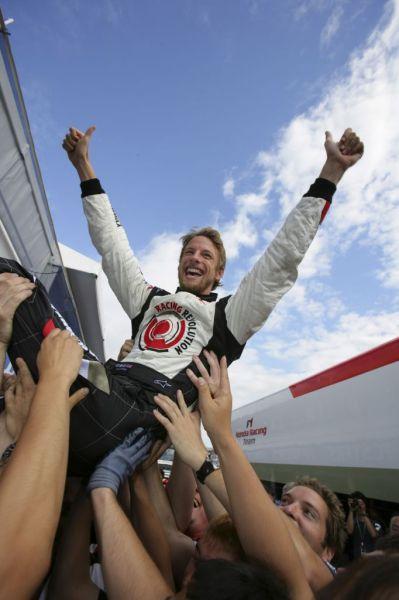 Jenson Button's first win, from HondaRacingF1.com