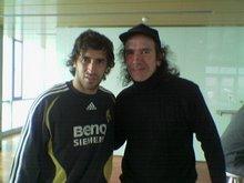 "Con ""Raul"" en Valdebebas"