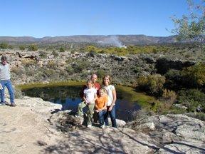on vacation at Montezuma's Well