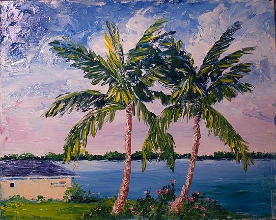 Palm tree oil paintings images for Palm tree painting