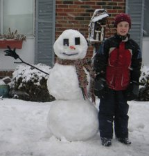 Me and the snowman I made