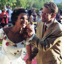 Daniel y Marianne Pearl el día de su boda