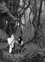 Tentación-Pluvisilva (Fotomontaje BN)