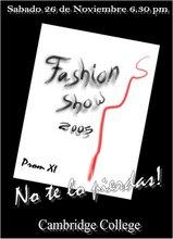 Afiche Fashion Show C.C. 2005