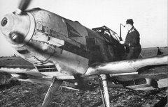 Um ME109 na França durante a batalha da Inglaterra