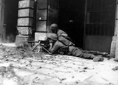 Soldados americanos em combate da Alemãnha