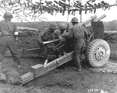 Artilharia de 105 mm americana