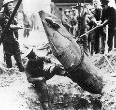 Uma bomba alemã em Londres