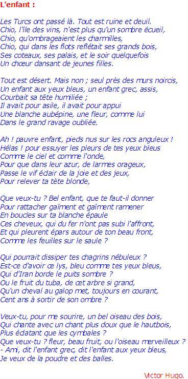 Victor Hugo : L'Enfant