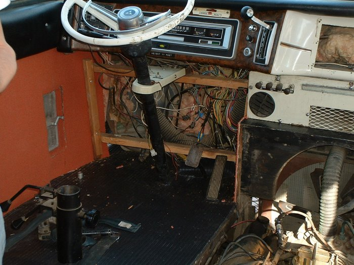 The floor of the driving compartment