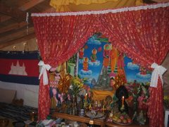 Buddha Alter of Watt Khmer Dhammaram of Hawaii