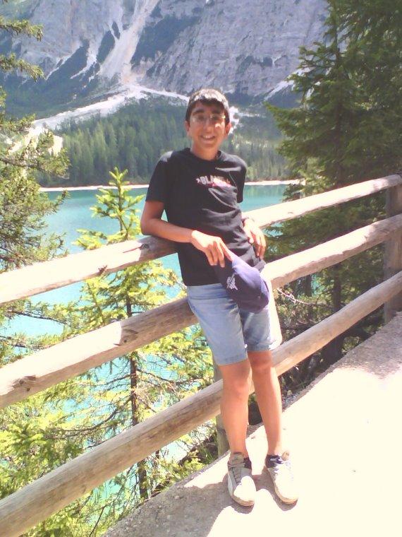 Fabio al lago di Braies
