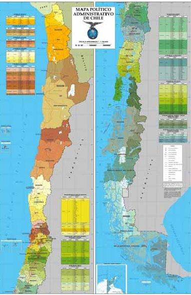 Mapa actual de Chile