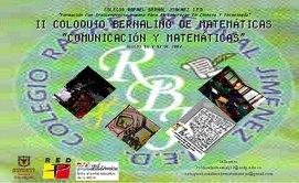 II COLOQUIO BERNALINO DE MATEMÁTICAS