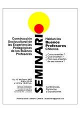 """Seminario """"Hablan los Buenos Profesores"""""""