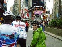 Riding Through Times Square