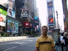 Aaron in Times Square