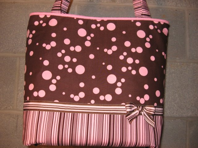 Pink and Brown Tote