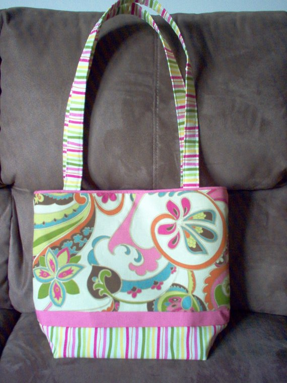 Bright Colored Spring Tote