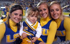Haley and LSU Cheerleaders