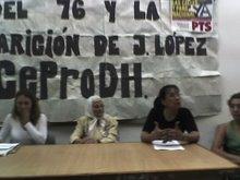 CHARLA DE MIRIAM BREGMAN (ABOGADA DE JUSTICIA YA LA PLATA), HERMINIA SEVERINI Y NORMA RIOS