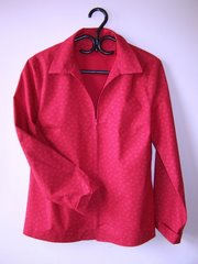 Burda  #8360 A/B: Zip Front Shirt