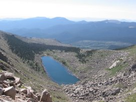 Lake on the way up Mt Evans