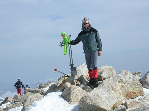 Gusti y yo en la cima del Tuc de Mulleres (3050m) LLEIDA. Mayo de 2005