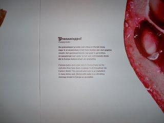 Waar de grenadine vandaan komt; met de groeten van Bor de Wolf; 19 novenmber 2006