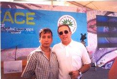 Lucho Jiménez con  Luis Ayala