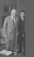 Lucho Jiménez y el Presidente Ricardo Lagos.