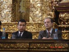 Lucho Jiménez y el Presidente Rodrigo Borja