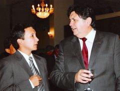 Lucho Jiménez y el presidente Alan Garcia