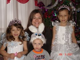 Kelli with our Orphan Kids shortly after Ukrainian Christmas.