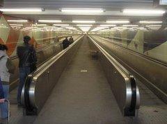 Vicent Llorca en el Metro de Estocolmo