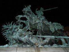 Estocolmo. Estatua de San Jorge en la Plaza de San Jorge