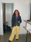 Me in yellow  trousers