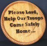 Featured Carving:  Support Our Troops