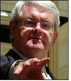 neocon gingrich calls for trashing 1st amendment